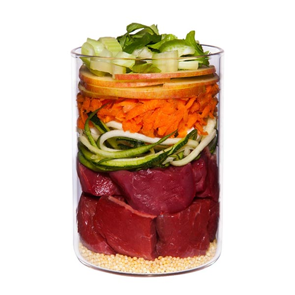 Lamb with courgettemillet and dill 2