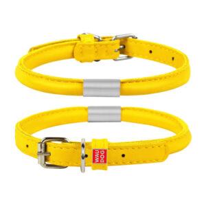 coleira glamour amarelo