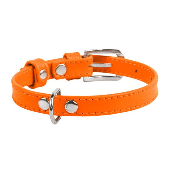 lecleps trela waudog glamour without decoration orange 1